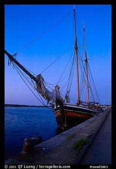 Two-masted Sailboat, Vastervik. Gotaland, Sweden (color)
