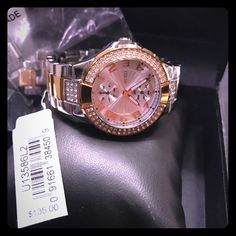 Shop Women's Guess Gold Silver size Links added Jewelry at a discounted price at Poshmark. Description: This watch is beautiful with all the accent diamond and the Rose gold makes it pop. Have the extra links and original box. It will need a battery which is not much. The price tag is what I paid for the watch and it's only 1 year old. I am open for offers but please no low offers. It's really in great condition.. Sold by passionitt. Fast delivery, full service customer support.