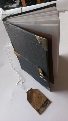 """5"""" x 7"""" - This hand made book's artist can be found at bookbindingbirdy.etsy.com or at facebook.com/bookbindingbirdy"""