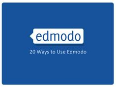 20 Ways to Use Edmodo in the Classroom, it's like an academic Facebook group for high school! #technology