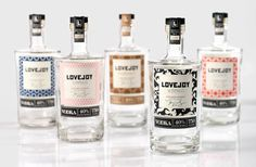 Love Joy Vodka labels