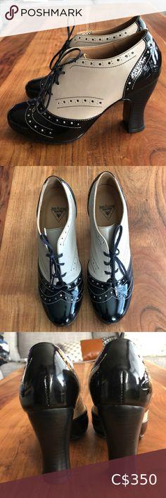 John Fluevog Brogued Lace Up Heel John Fluevog Brogued Lace Up Heel  Size 7.   Brand new. Never worn!   These are beautiful. It just doesn't make sense for me to keep them if I haven't worn them. John Fluevog Shoes Heels Beige Heels, Lace Up Heels, Strap Heels, Hip Hop Abs, Oxford Shoes Heels, John Fluevog Shoes, Vintage Heels, Fringe Sandals, Vintage Adidas