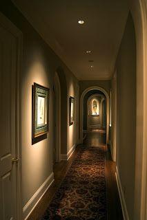 ceiling recessed spotlight on art