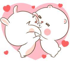 TuaGom: pegatina oso y conejo hinchado # 9450766