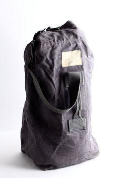 Vintage Canvas Duffle Bag Men's Duffel Overnight Bag by CrolAndCo, $65.00