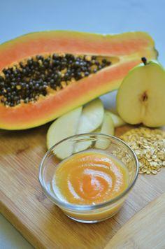 Papaya Pear Oatmeal from 201 Organic Baby Purees