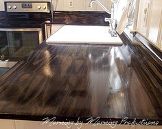Morning By Morning Productions DIY Kitchen Countertops Using Pine - Do it yourself kitchen countertops