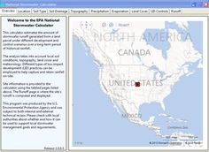 National Stormwater Calculator data entry screen