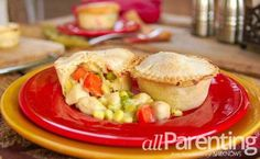 Mini chicken pot pies...this recipe for crust