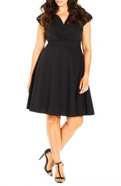 City Chic 'Retro Chic' Fit & Flare Dress (Plus Size) available at #Nordstrom