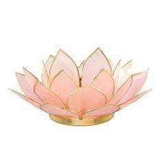 This handmade tea light holder is designed in the shape of an open lotus flower…