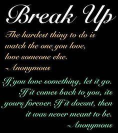 Break Quotes Broken Up Quotes Pinterest Breakup Quotes And