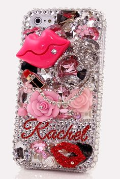 Lipstick Lovers Personalized Name & Initials Design iPhone 6s Plus bling case http://luxaddiction.com/collections/personallized-designs/products/lipstick-lovers-personalized-name-initials-design-style-pn_1048