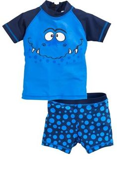 Blue Monster Sunsafe Two Piece Set