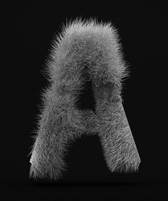 Hair Simulation : Letter A by Corey Holms, via Flickr