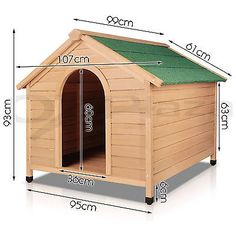 Extra Large Pet Dog Timber House Wooden Kennel Wood Cabin Log Storage Box Bowls