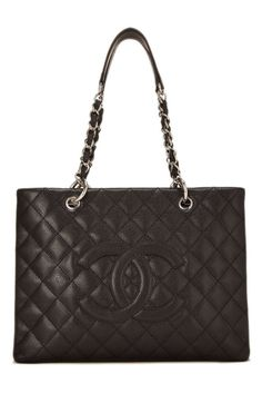 Black Quilted Caviar Grand Shopping Tote (GST) - Chanel by What Goes Around  Comes Around 4863d9a0e3ab3