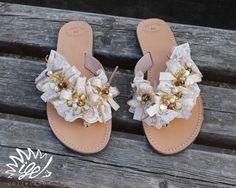 "Handmade Leather Sandals ""Romantic Dreams"""