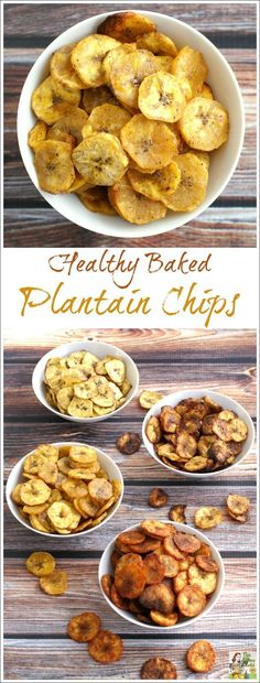 Looking for a healthy, gluten free snack? Try these healthy baked plantain chip…