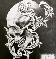 This is long overdue @briancandrews78. Hope you have some space on your wall #blackandwhite #blackandwhitedrawing #skull #realism #drawing #graft #pencil #filigree #scrollwork #tattooart