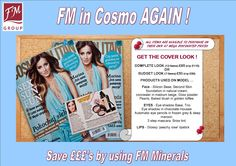FM Cosmetics are in Cosmopolitan AGAIN and this time doing the front cover makeup !