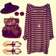 Navy White Striped Long Sleeve shirt dress