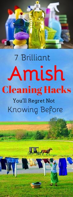 Amish Cleaning Hacks You'll Regret Not Knowing Before #cleaning #amish #clean #cleaningtips #cleaninghacks