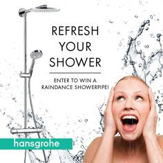 Enter today for your chance to win one of 5 Hansgrohe Raindance Showerpipes! #RefreshYourShower