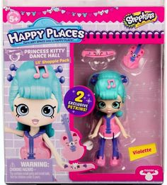 Shopkins Happy Places Violette Lil' Shoppie Pack with 2 exclusive Petkins Shopkins Game, Shopkins Season 3, Shoppies Dolls, Shopkins And Shoppies, Shopkins Bedding, Shopkins Happy Places, Princess Kitty, Moose Toys, Shopping