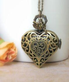 1/17 - Pocket watch necklace sale valentine by JEWELRYANDMINIATURES, $29.00