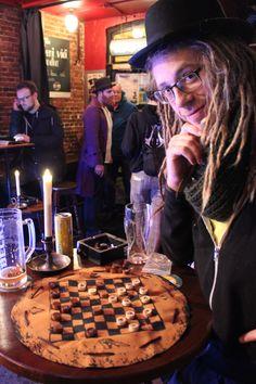 """Auch in Hamburg hattet ihr Gelegenheit das eine oder andere Spielchen """"Checkers"""" zu wagen."""