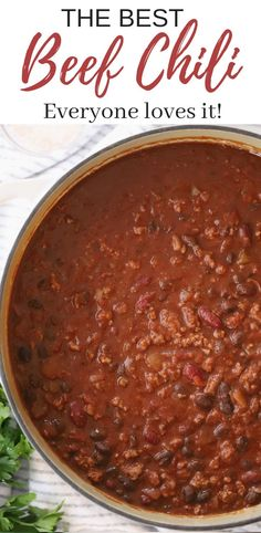 Apr 2020 - This was a huge hit! The best CHILI in only 30 minutes! This easy chili recipe is made with simple chili ingredients. This can be made in 30 minutes but taste like it's been cooking all day! The entire family will love this beef chili recipe! Homemade Chilli Recipe, Easy Beef Chili Recipe, Chili Soup Recipe, Easy Chilli, Best Chili Recipe, Chilli Recipes, Soup Recipes, Chicken Recipes, Healthy Recipes