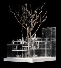 ARCHITECTURAL MODELS / TAO (Trace Architecture Office) · TiensTiens Café