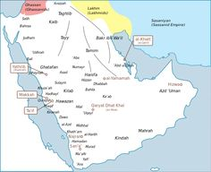 Arabia's tribes before the rise of Islam. The Ghassanids were clients of the Roman Empire while the Lakhmids were clients of the Persians.
