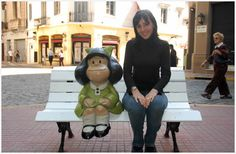 Love MAFALDA? She comes from here you know. Look for her on the corner of Chile and Defensa in San Telmo, just near where Quino (the author) lived. She might even speak to you if sit next to her and listen carefully. There used to be someone who did Mafalda tours, taking you to places that appear in the books. If I find them, I will put a note on here.