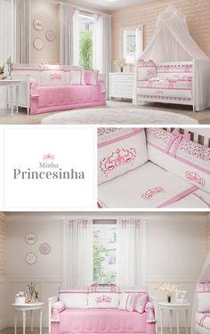 O quarto Minha Princesinha foi criado com amor para sua pequena ter um cantinho digno de realeza! Desenho exclusivo e detalhes caprichados definem essa nova coleção!