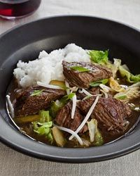 Slow Cooker Korean Beef Stew with Napa Cabbage and Pickles - never made Asian food in the Crockpot but this sounds delicious :)