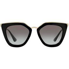 549c5b1544 Pr 53ss 1ab0a7 - Black Cat Eye Prada Sunglasses - Free 3 Day Shipping (1.865