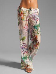'Tropical' garden party pants by Beach Bunny