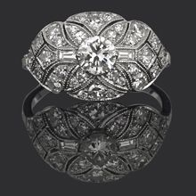 Antique Cluster Diamond Ring