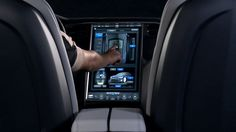 Introducing the world's most advanced vehicle user interface - the Tesla Model S touchscreen display. Take a look inside the master control of Motor Trend's… Tesla S, Tesla Motors, 2013 Tesla Model S, All Electric Cars, Win Car, Car Ui, Car Experience, User Interface Design, Limousine