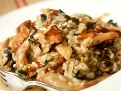 Risotto mit Knoblauch und Pilzen Risotto with garlic and mushrooms – smarter – time: 35 min. Healthy Eating Tips, Healthy Nutrition, Rice Recipes For Dinner, Mushroom Risotto, Vegetable Drinks, Eat Smarter, Mushroom Recipes, How To Cook Pasta, Cooking Tips