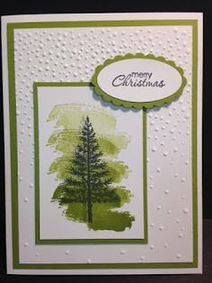 Festival of Trees, Work of Art,  Petite Pairs, Christmas Card, Stampin' Up!, Rubber Stamping, Handmade Cards