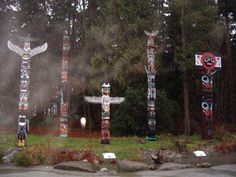 The Stanley Park Totem Poles Totem Poles, G Adventures, Wind Chimes, Stanley Park, Christmas Ornaments, Holiday Decor, Outdoor Decor, Canada, Home Decor