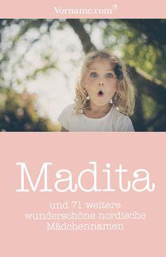 Madita ist ein beliebter Vorname aus einer Astrid Lindgren-Geschichte. Suchst du noch mehr Inspiration und Namensvorschläge für Mädchennamen aus dem hohen Norden? #mädchenname #vorname #namensinspiration #namen