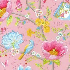 Pip Studio III wallpaper Chinese Garden Pink 341001