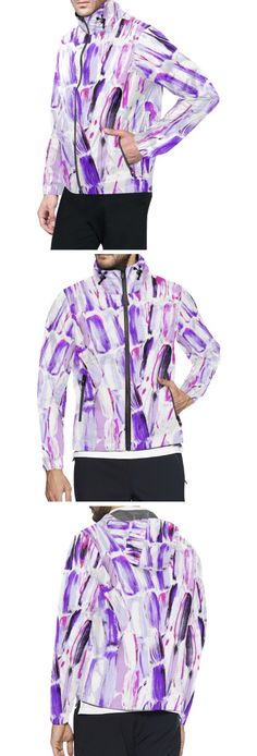 Caribbean colorful Purple and Ultraviolet Lavender All Over Print Windbreaker for Men (Model H23 ) Fashion Designs like this jacket by @anoellejay Alicia Jones and @artsadd   Brooklyn artist featuring Environmental Beach Ocean Caribbean African designs / Go running in a design that has meaning even in the rainy cloudy weather / Also buy this artwork on other home products and accessories http://m.artsadd.com/store/anoellejay?sort=newest?rfsn=714731