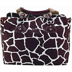 @Overstock - Carry all your baby-related items in this magnificent OiOi diaper bag. With a unique giraffe design, this bag features an adjustable shoulder strap and metal feet on the bottom that keep it off dirty surfaces. http://www.overstock.com/Baby/OiOi-Cocoa-Giraffe-Tote-Diaper-Bag/4233539/product.html?CID=214117 $100.99