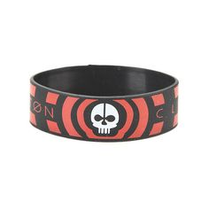 Twenty One Pilots Skeleton Rubber Bracelet Hot Topic (6,235 KRW) ❤ liked on Polyvore featuring jewelry, bracelets, roaring twenties jewelry, skeleton jewelry, 1920s jewelry, rubber bangles and rubber jewelry