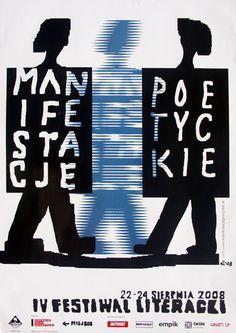 Poetic Manifestation 2008 Manifestacje Poetyckie 2008 Mlodozeniec Piotr Polish Poster